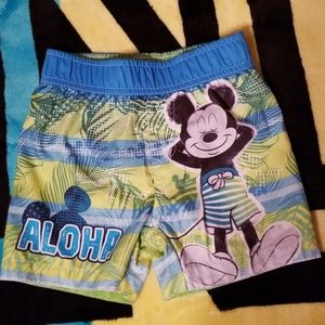 Mickey Mouse toddler swim trunks